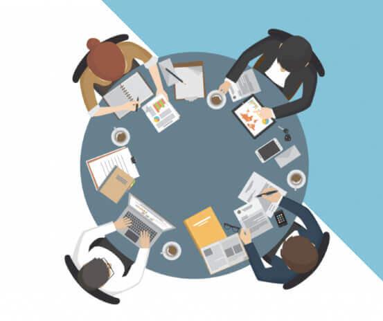 agile digital transformation team working